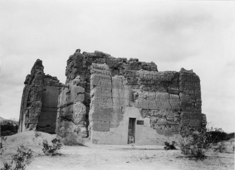 East side of the Casa Grande, circa 1900