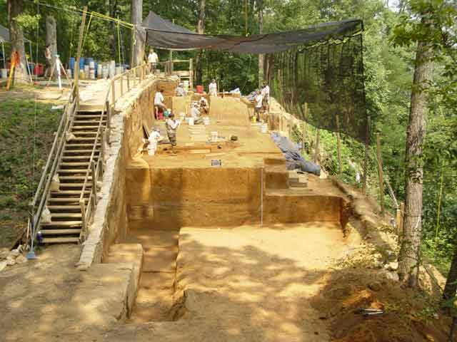 Excavation in 2003 of Mound A at Shiloh National Military Park