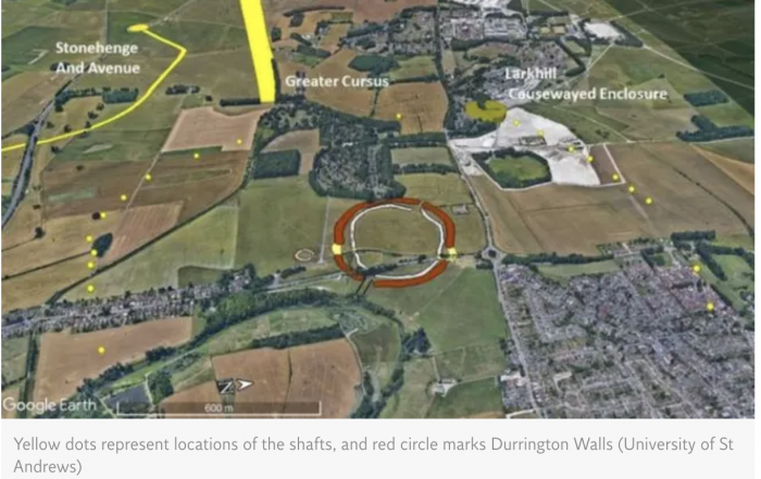 Diagram of Durrington Walls & outer posts