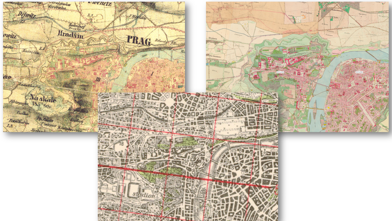 GIS images of Prague
