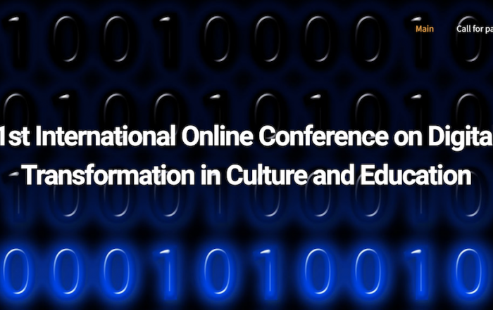 1st International Online Conference on Digital Transformation in Culture and Education image